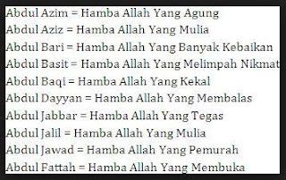 Nama Anak Laki Laki Islami Dan Artinya