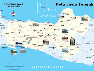 Peta Jawa Tengah Lengkap dan Gambar