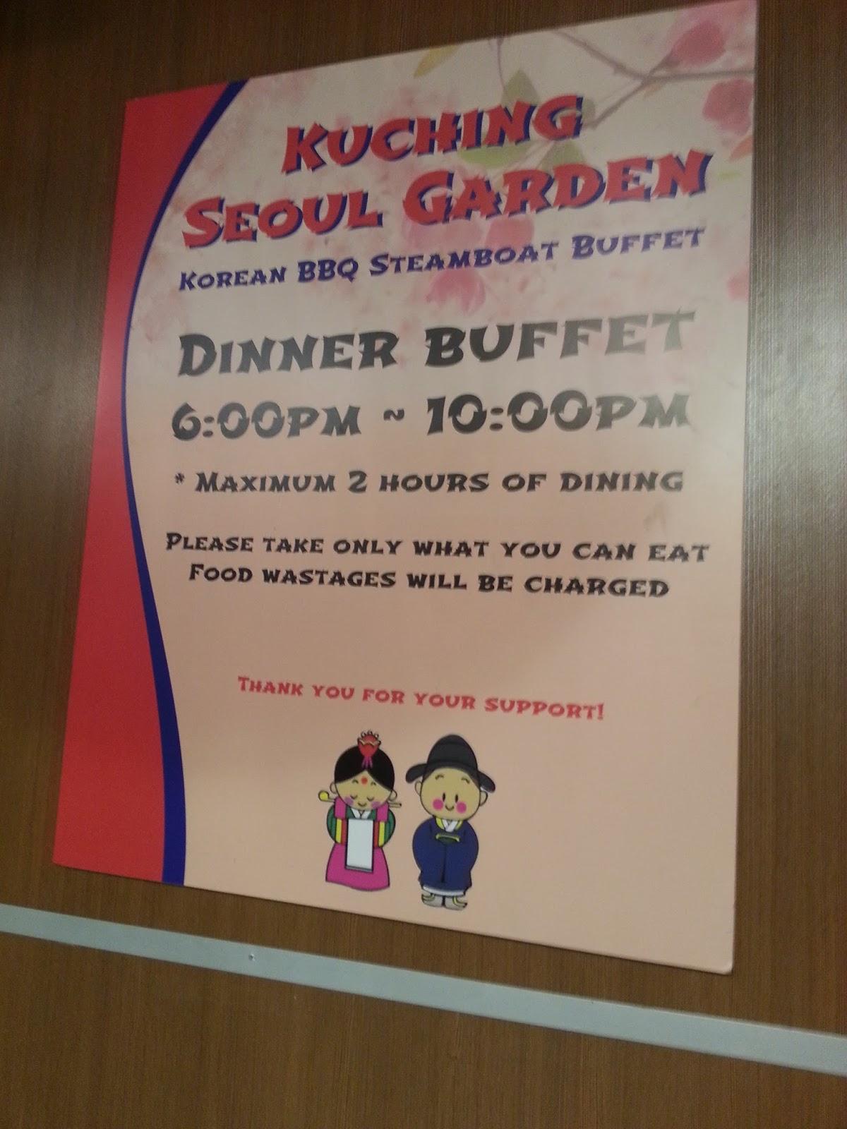 Malaysia Food Blog, Kuching Based: Seoul Garden @ 3rd Mile, Kuching
