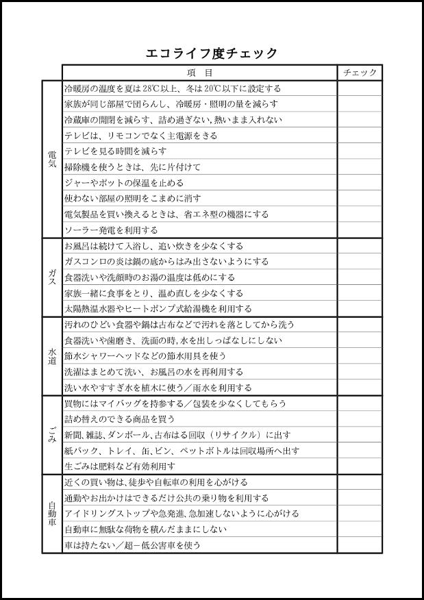 エコライフ度チェック 015