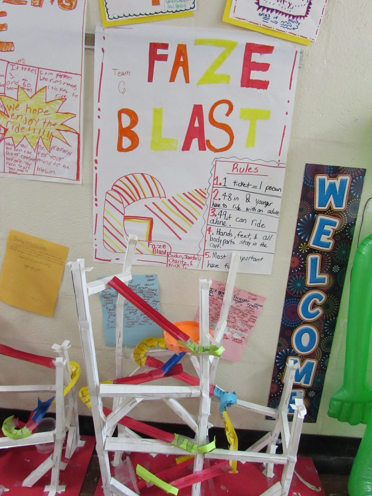 growing a stem classroom  building paper roller coasters