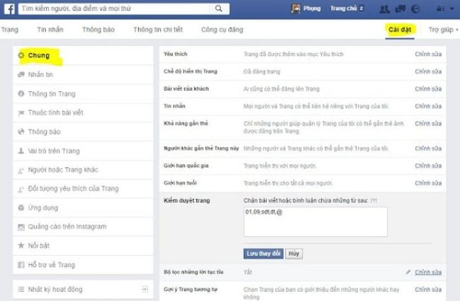 How to hide comments on Facebook fanpage