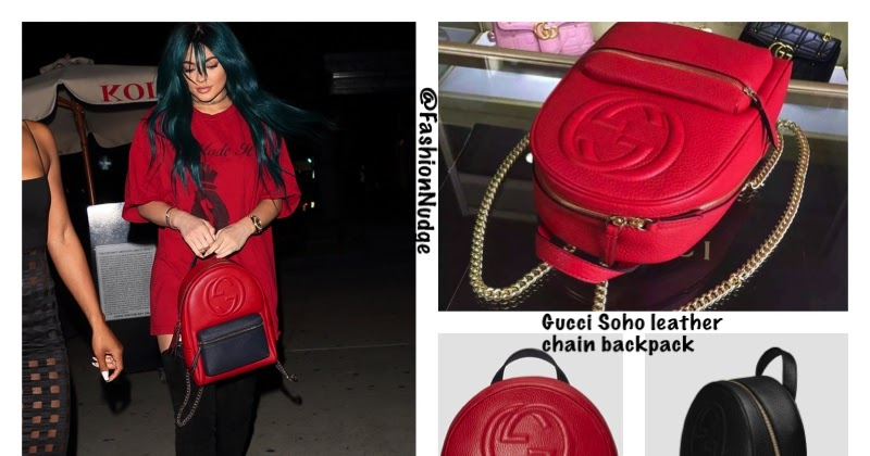 Snag the Look - Kylie Jenner in Gucci Soho leather chain backpack 9748cb0195e4e