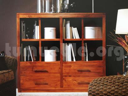 mueble libreria en teca 4177