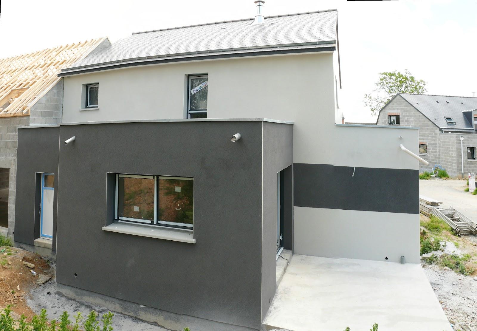 Crepi Exterieur Gris Anthracite notre maison à chateaugiron: 23 juin 2012 - enduit terminé