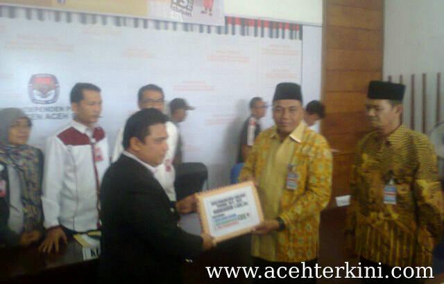 Dul Musrid – Sazali Mendaftar ke KIP Aceh Singkil