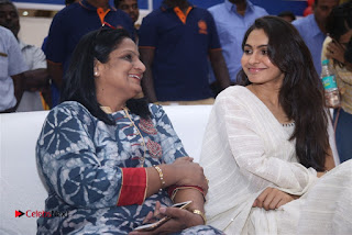 Tamil Actress Singer Andrea Stills in White Salwar Kameez at Narayana Group of Schools Carnival Inauguration  0010.jpg