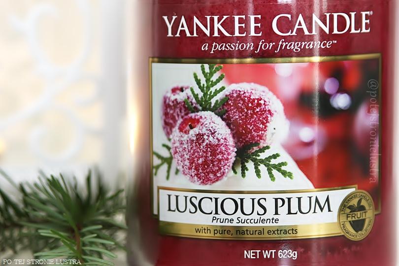 etykieta świecy yankee candle luscious plum