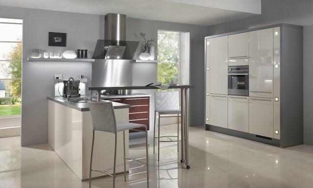 Fotos de cocinas modernas colores en casa for Suelos de cocina grises