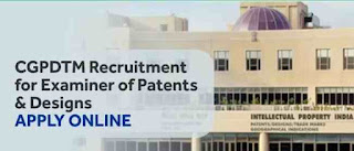 CGPDTM Recruitment 2018 for Examiner of Patents/Designs: Apply Online