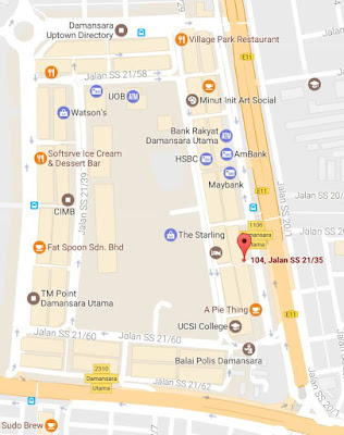 location map Wood and Steel restaurant Damansara Utama