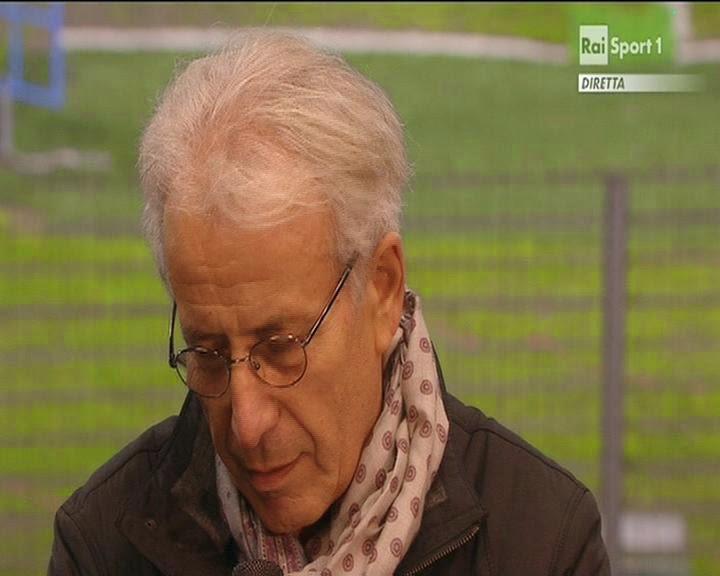 Renato Cipollini, neoPresidente della Lega Pro ai microfoni di Rai Sport. fotosportnotizie.com
