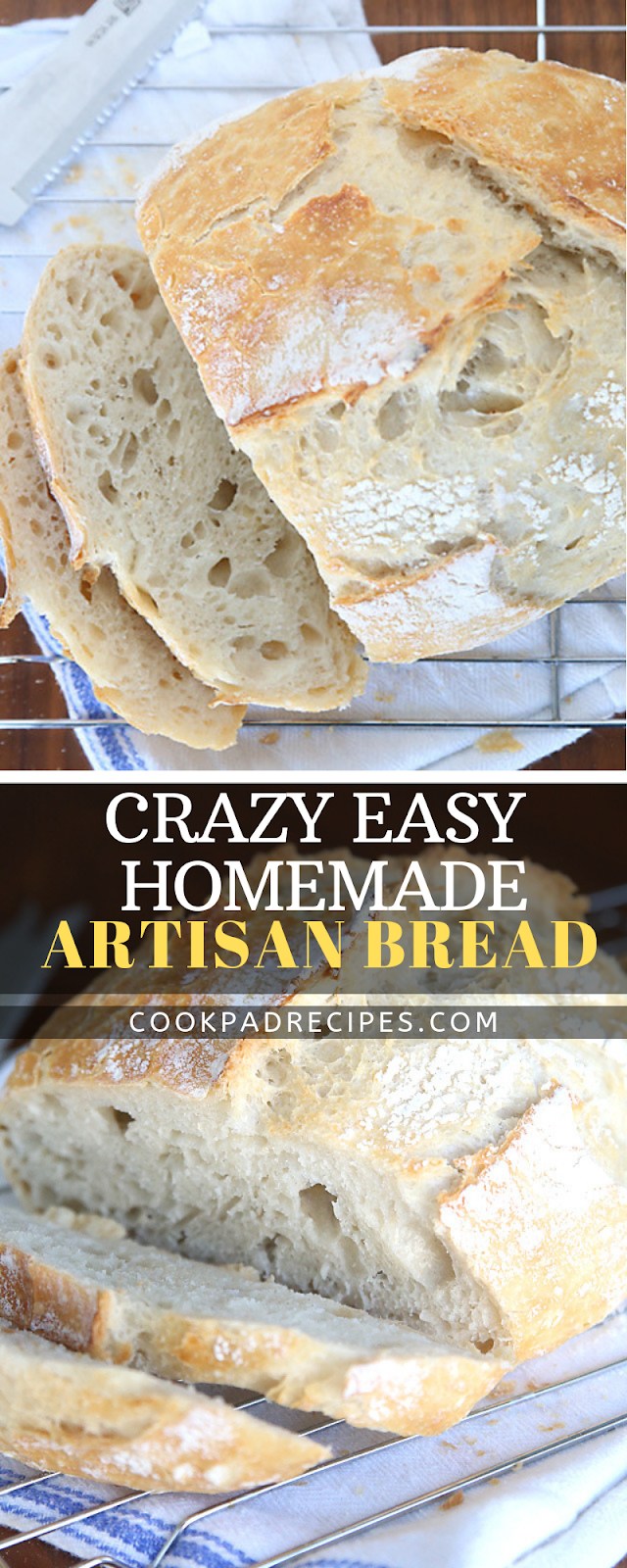 CRAZY EASY HOMEMADE ARTISAN BREAD