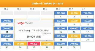 Giá vé máy bay Nha Trang đi Hồ Chí Minh