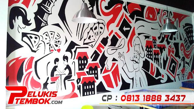 Jasa Lukis Lukisan Grafiti Grafiti 3d Di Dinding Igo Mural Jasa Mural Cafe Jasa Mural Cafe Dinding Harga Jasa Mural Cafe