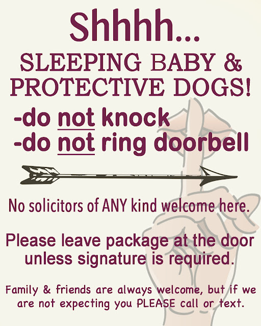 "How to Make the Ultimate ""New Mom Door Sign"""