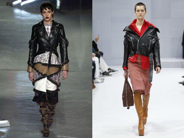 Кожаные куртки женские 2017