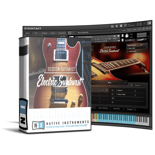 Native Instruments - Session Guitarist Electric Sunburst KONTAKT Library