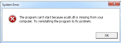 Télécharger Acutil.dll Fichier Gratuit Installer