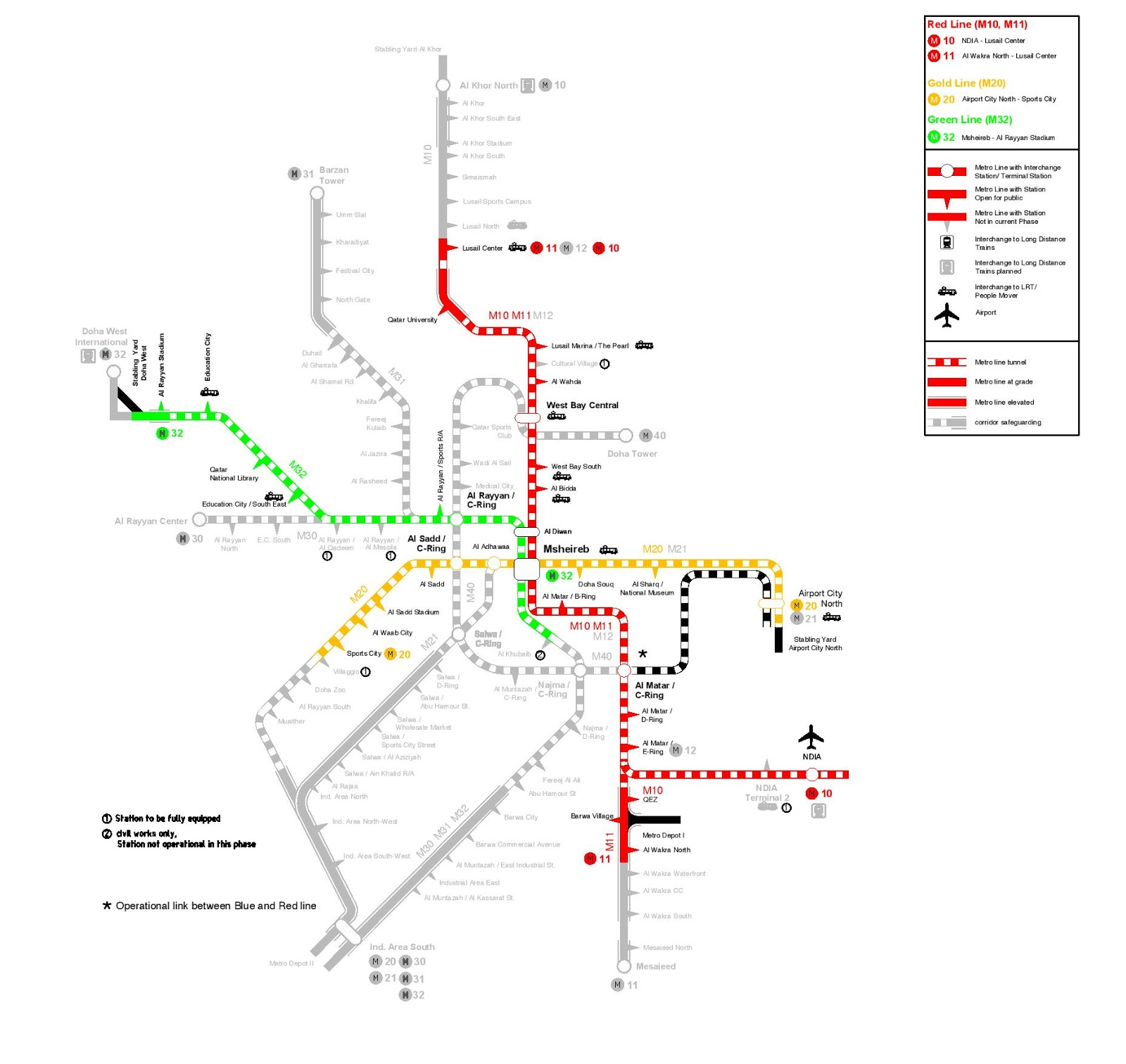 Hi Qatar Doha Metro Lines And Stations On Google Maps