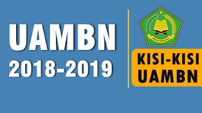 Kisi-Kisi UAMBN MTs dan MA Tahun Pelajaran 2018-2019