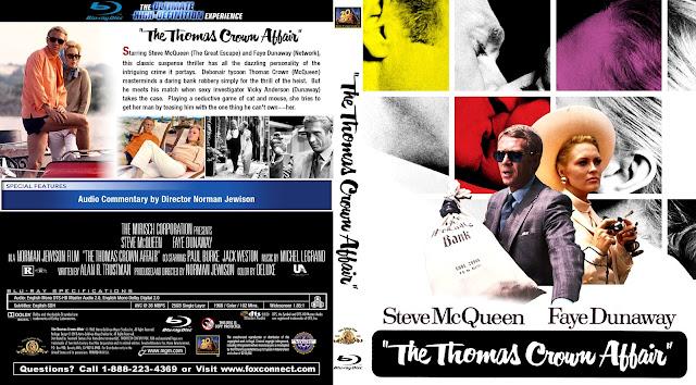 The Thomas Crown Affair Bluray Cover