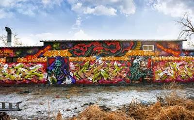 karya indah Grafiti di tembok
