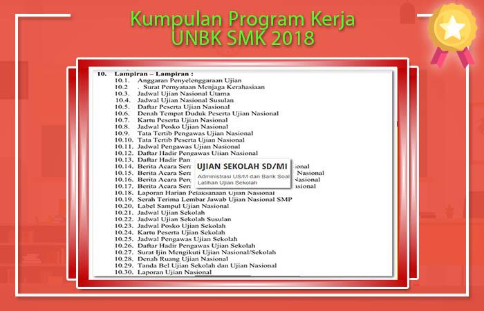Kumpulan Program Kerja UNBK SMK 2018