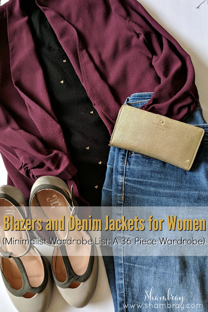 Blazers and Denim Jackets for Women (Minimalist Wardrobe List: A 36 Piece Wardrobe)