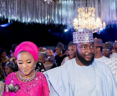 Dangote's Daughter, Fatima & Jamil's Wedding Dinner Photos