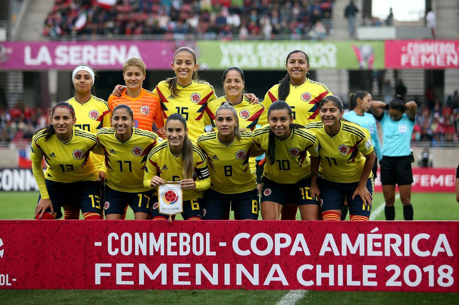 Formación de selección de Colombia ante Chile, Copa América Femenina 2018, 6 de abril