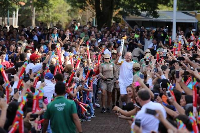 Passagem da Tocha Olímpica por Campo Mourão