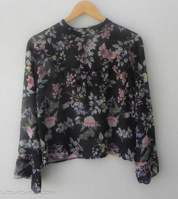 blusa estampada flores otoño