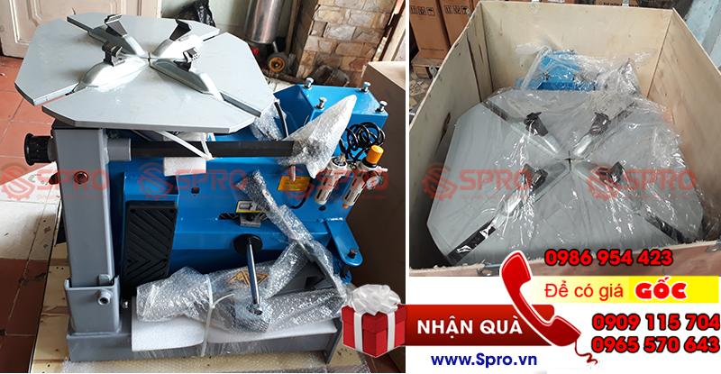 NK418E – Máy tháo vỏ, máy ra vào lốp xe tay ga, ô tô du lịch
