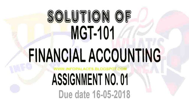 MGT101 Assignment No 1 Solution Spring 2018