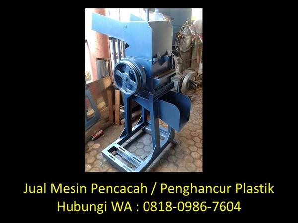 mesin cacah plastik beras di bandung