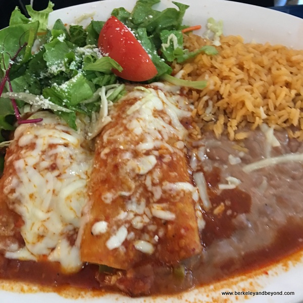 enchiladas at San Jalisco in San Francisco's Mission District