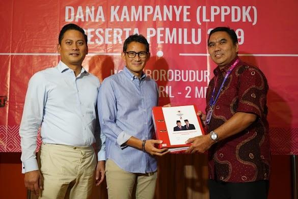 Total Dana Kampanye Prabowo-Sandi Rp 213,2 Miliar