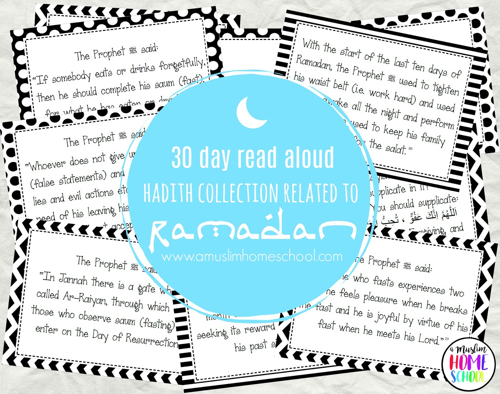 photo relating to Ramadan Cards Printable known as a muslim homeschool: 30 times of Ramadan ahadith toward examine