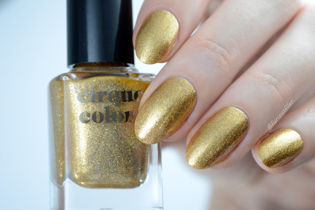 cirque colors 24k affair swatch gold metallic holo