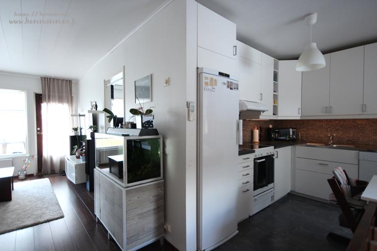 olohuone keittiö