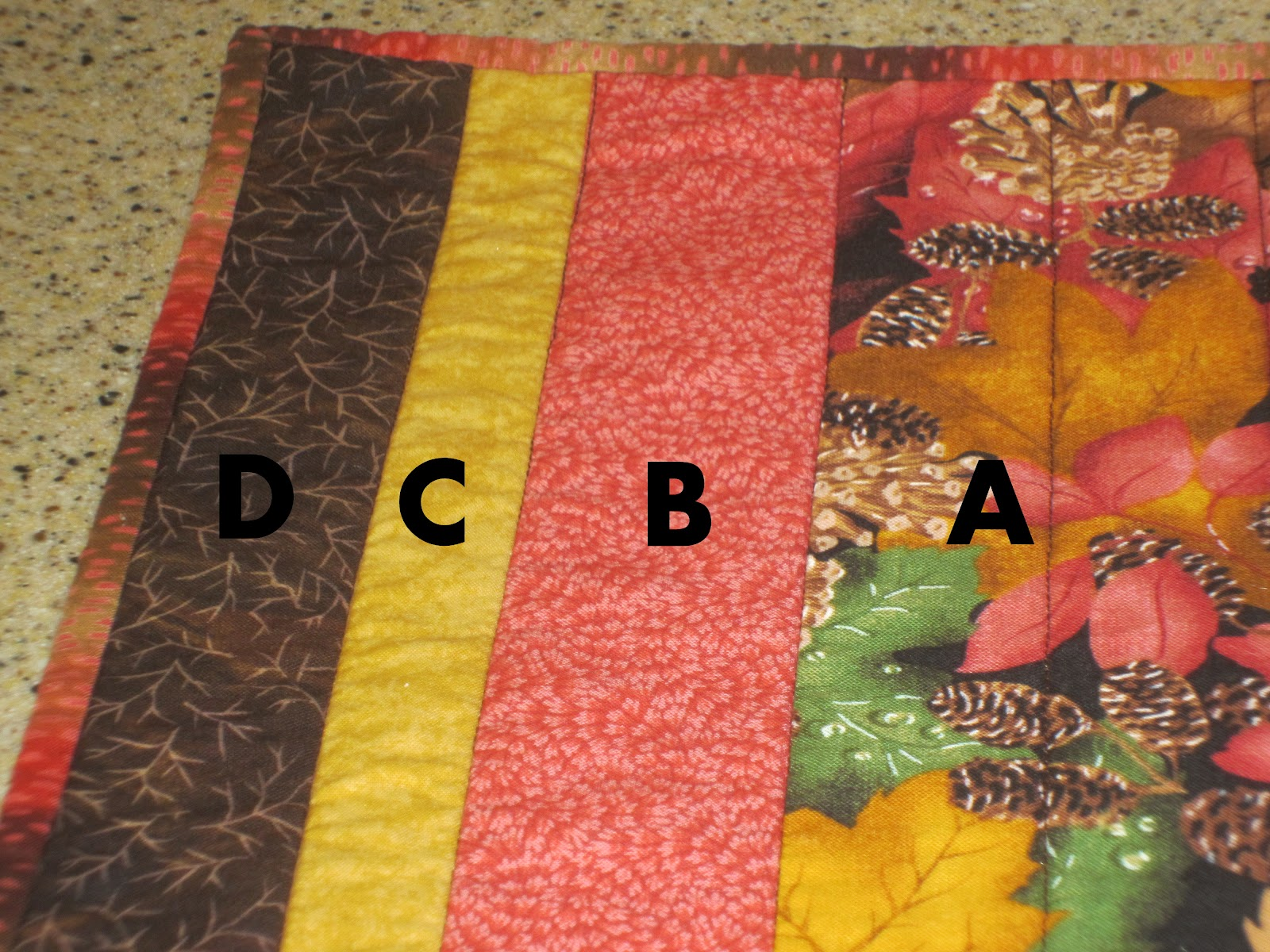 My Patchwork Quilt: FALL QUILTED PLACEMATS