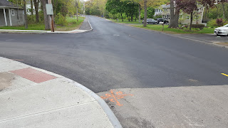 new pavement on a section of Pleasant St was completed during the week