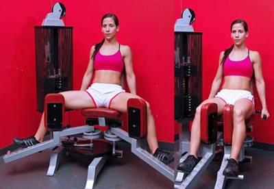 Máquina aductores ejercicio mujer