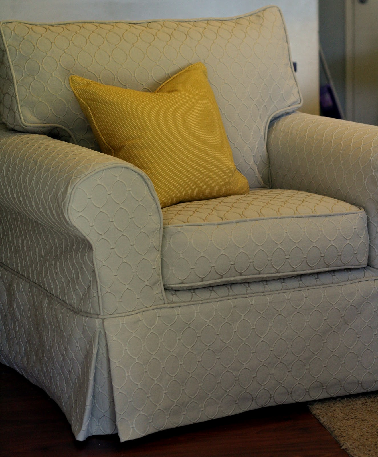 Gray Chair Slipcover Cathedral Chairs For Sale Custom Slipcovers By Shelley Oval Oversized