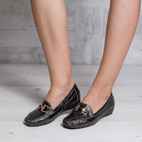 Pantofi dama Farber negri cu platforma ortopedica • modlet