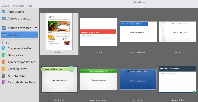 Utilizando templates  do WPS Office e  MS Office no LibreOffice