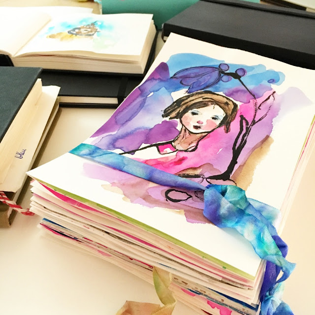 Gabriëlle Heckenbücker, sketchbooks, sketchbook conversations, watercolor