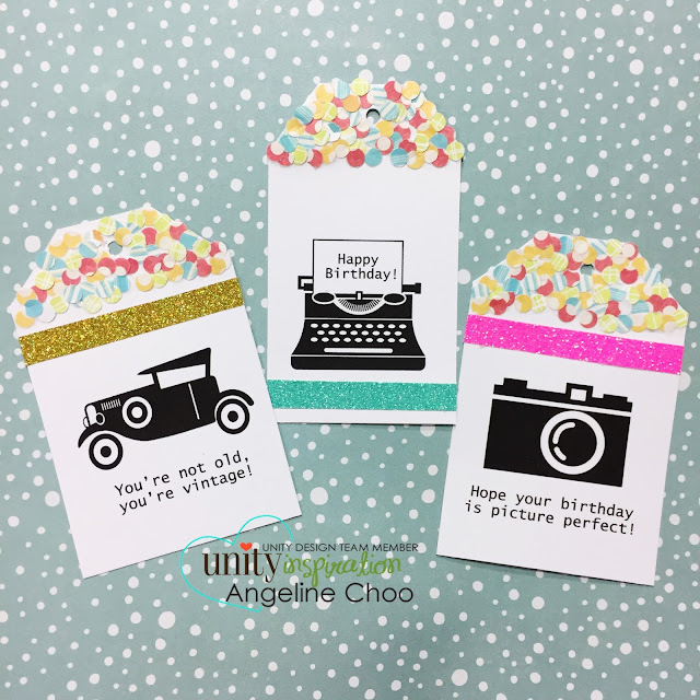 ScrappyScrappy: [NEW VIDEO] Confetti Tags with Unity Stamp #scrappyscrappy #unitystampco #stamp #papercraft #ginakdesigns #quicktipvideo #youtube #confetti