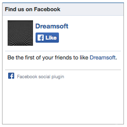 Social Plugin Sample Screen Of Dreamsoft